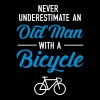 Old Man - Bicycle - Dame premium T-shirt