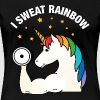 I Sweat Rainbow | Cool Gym Unicorn Design - Women's Premium T-Shirt