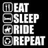 EAT SLEEP RIDE , Pferde  - Frauen Premium T-Shirt