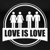 LOVE IS LOVE GAY LESBIAN - Women's Premium T-Shirt