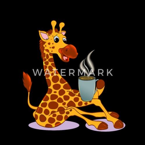 Girafe Avec Cafe Cadeau Cartoon Kawaii De Mucdesigns Spreadshirt