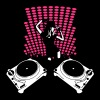 Disco 5 3c (larger turntables), concert Club - Women's Premium T-Shirt