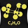alcohol molecule with formula C2H6O - Dame premium T-shirt