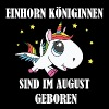 Einhorn Königinnen August - Frauen Premium T-Shirt