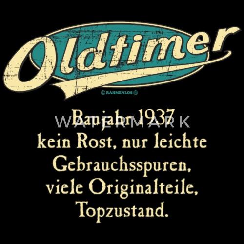 Bd Oldtimer Baujahr Jahrgang 1937 Retro Turkis Geburtstag