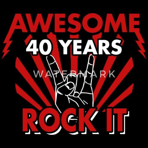 40th Birthday 40 Years Heavy Metal Gift Women S Premium T Shirt