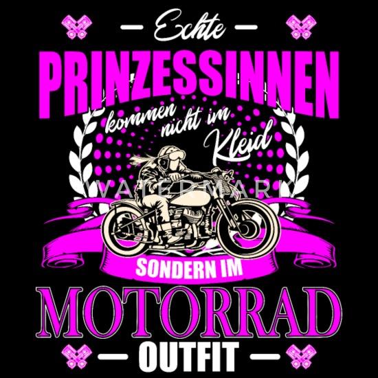 Prinzessinnen Im Motorrad-Outfit Frauen T-Shirt