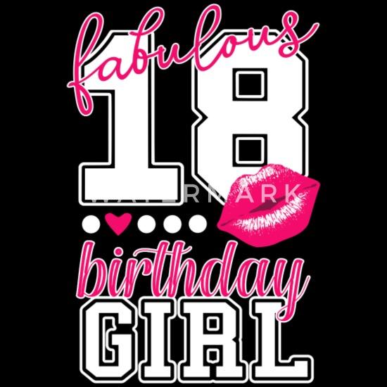 Welp fabulous 18 birthday girl 18th birthday pink Kiss Women's Premium VP-93