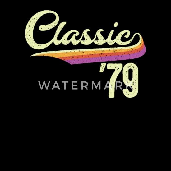 Klassik 79 Geschenk 40 Geburtstag Retro 40er Frauen Premium