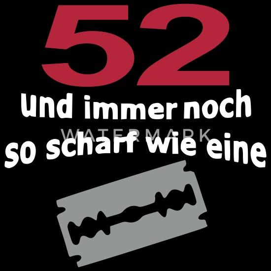 52 Geburtstag Rasierklinge Frauen Premium T Shirt Schwarz