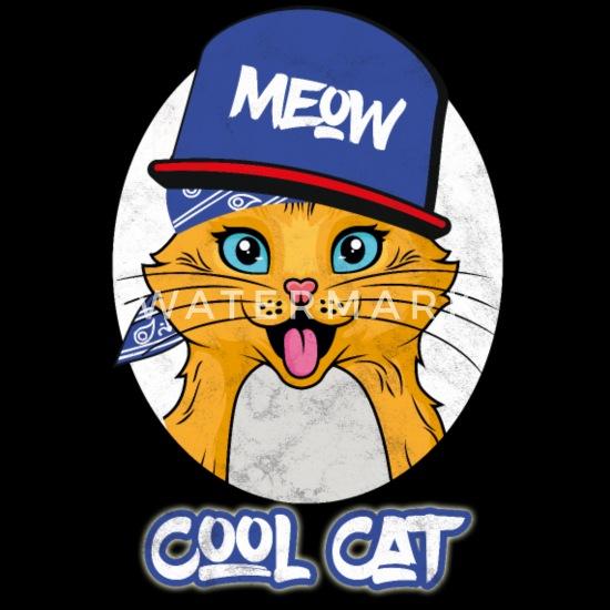 Hip Hop Cat Rap Funny Rapper Gangster Womens Premium T Shirt