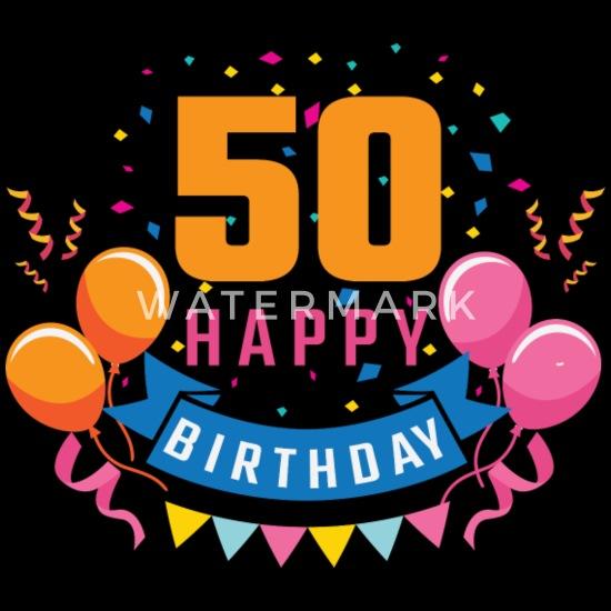 50e Anniversaire De 50 Ans Joyeux Anniversaire Cadeau T Shirt Premium Femme Noir