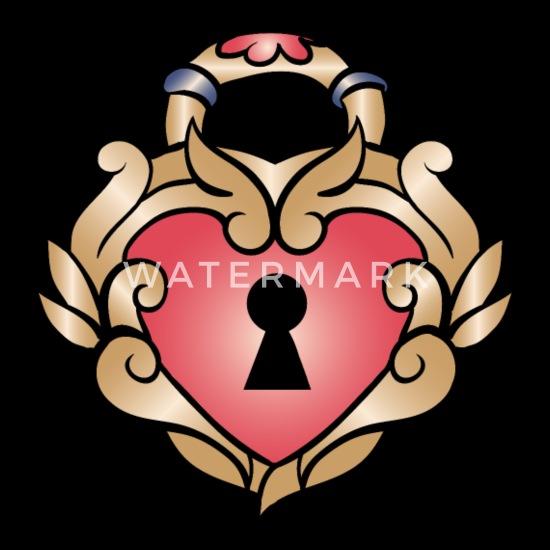 Serce Tatuaż Z Dziurką Od Klucza Premium Koszulka Damska