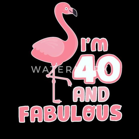 Drôle Cadeau Danniversaire Flamingo 40 Ans T Shirt Premium Femme