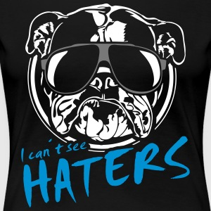 I can´t see haters ENGLISH BULLDOG - 3 farbig - Frauen Premium T-Shirt