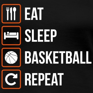 Eat Sleep Basketball Repeat - Women's Premium T-Shirt