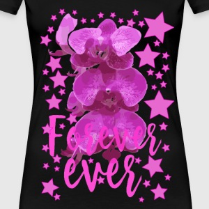 Forever ever Pink flowers collection stars - Women's Premium T-Shirt
