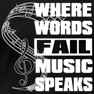 Where Music Notenschluessel - Frauen Premium T-Shirt