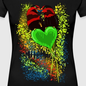 'Love 'n' Music' by BlackenedMoonArts - Dame premium T-shirt