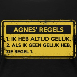 Agnes' rules. Original gift. - Women's Premium T-Shirt