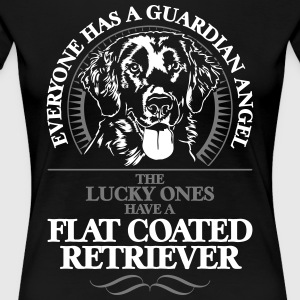 GUARDIAN ANGEL FLAT COATED RETRIEVER - Women's Premium T-Shirt