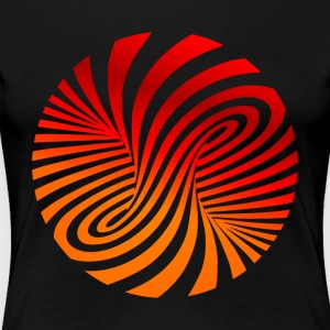 psychedelic circles lsd optical illusion column - Women's Premium T-Shirt