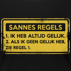 Sannes rules. Original gift. - Women's Premium T-Shirt