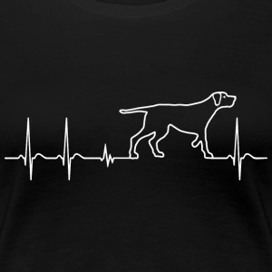 Heartbeat Heartbeat Dog Kärlek Gift Child - Premium-T-shirt dam