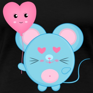 Blue mouse - Women's Premium T-Shirt