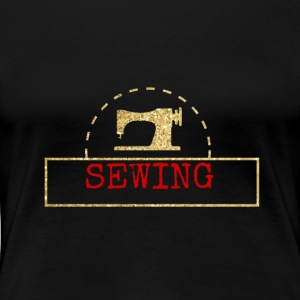 Sewing machine design - Women's Premium T-Shirt