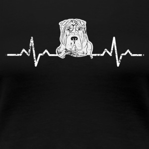 Et hjerte for Stafford terrier - Dame premium T-shirt