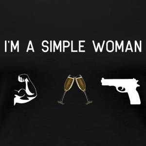 I am a simple woman - muscles champagne - Women's Premium T-Shirt