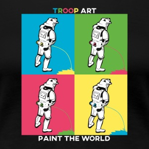 Troop typen - Stormtrooper om Pop Art Party - Dame premium T-shirt