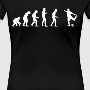 Human evolution football - Women's Premium T-Shirt