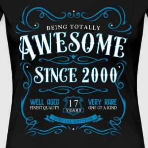 Being Totally Awesome Since 2000 - Women's Premium T-Shirt