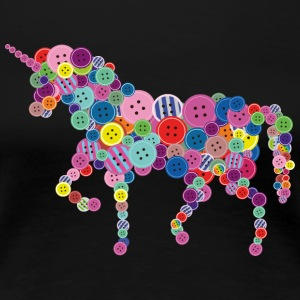 Einhorn Button - Frauen Premium T-Shirt