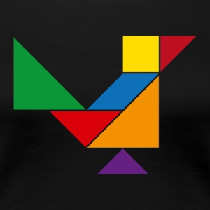 Tangram Bird - Women's Premium T-Shirt