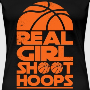 Real girl Skyt Hoops Basketball - Premium T-skjorte for kvinner