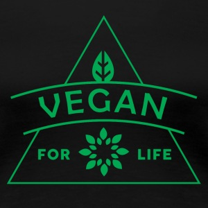 VEGAN FOR LIVET - Premium T-skjorte for kvinner