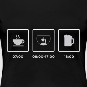 Breakfast, Aquarium, Feierabend - Women's Premium T-Shirt