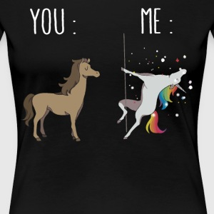 You and me Unicorn pole dancing - Women's Premium T-Shirt