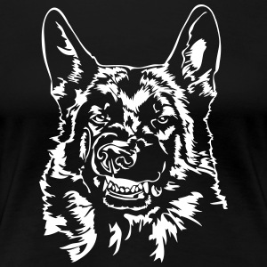 Schäfer - German Shepherd dåligt - Premium-T-shirt dam