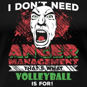 Anger Management - VOLLEYBAL - Vrouwen Premium T-shirt
