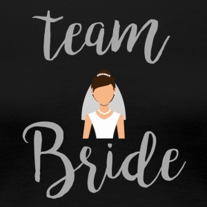 Team Bride Grey - Dame premium T-shirt