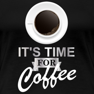 Coffee time argent - T-shirt Premium Femme