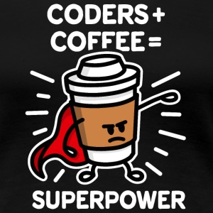 Coders + coffee = superpower (superhero) dark