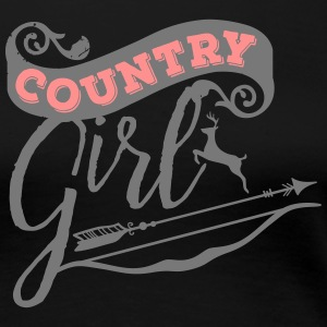 "Country-Girl ""Bow and Arrow - Frauen Premium T-Shirt"