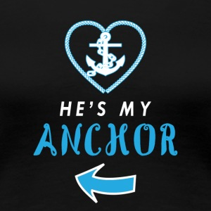 My anchor wedding engagement husband - Women's Premium T-Shirt