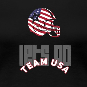 usa fodbold røre ned flag America Sports defenes - Dame premium T-shirt