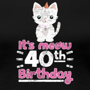 It's meow 40th Birthday! Birthday Sweet Cat